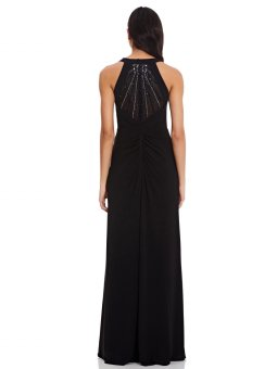 Jersey halter beaded back