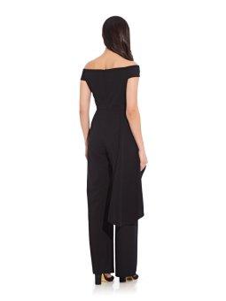 Off shoulder cascade jumpsuit