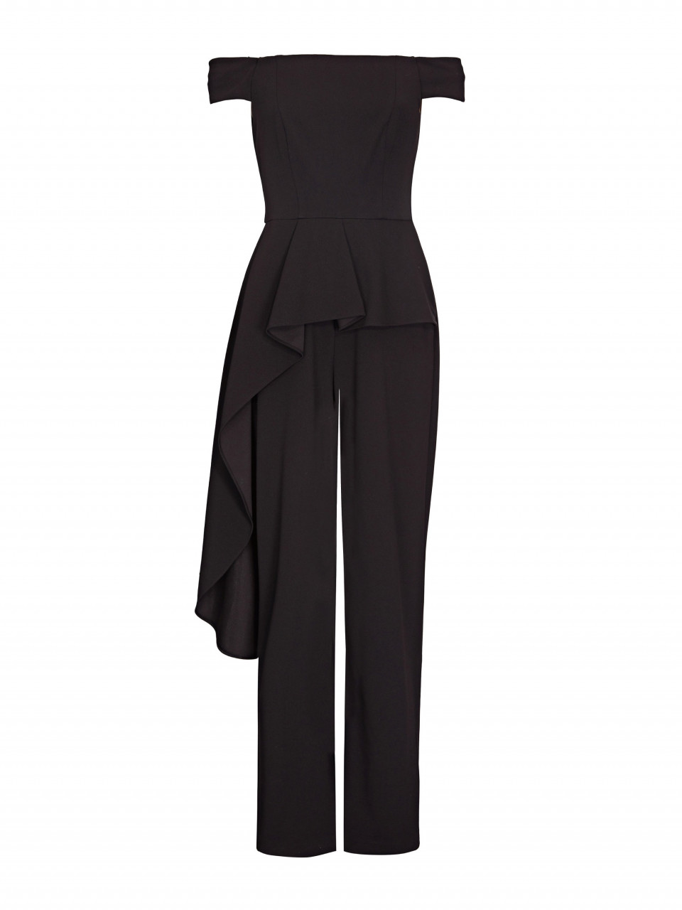 Off shoulder cascade jumpsuit