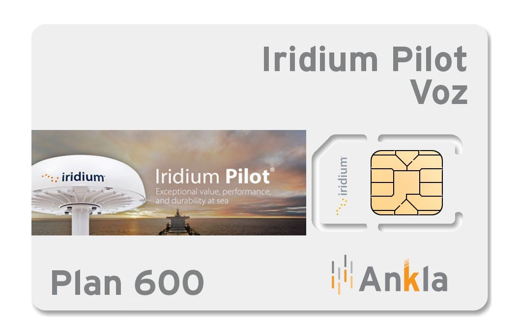 Plan Iridium Pilot voz 600 minutos
