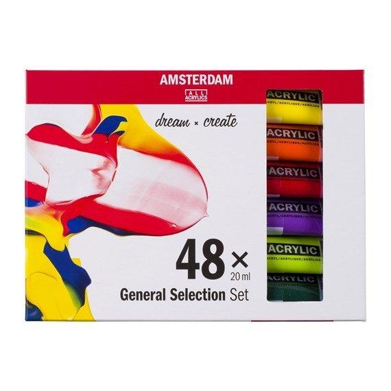 Set de Acrílicos Amsterdam 48 x 20 ml.