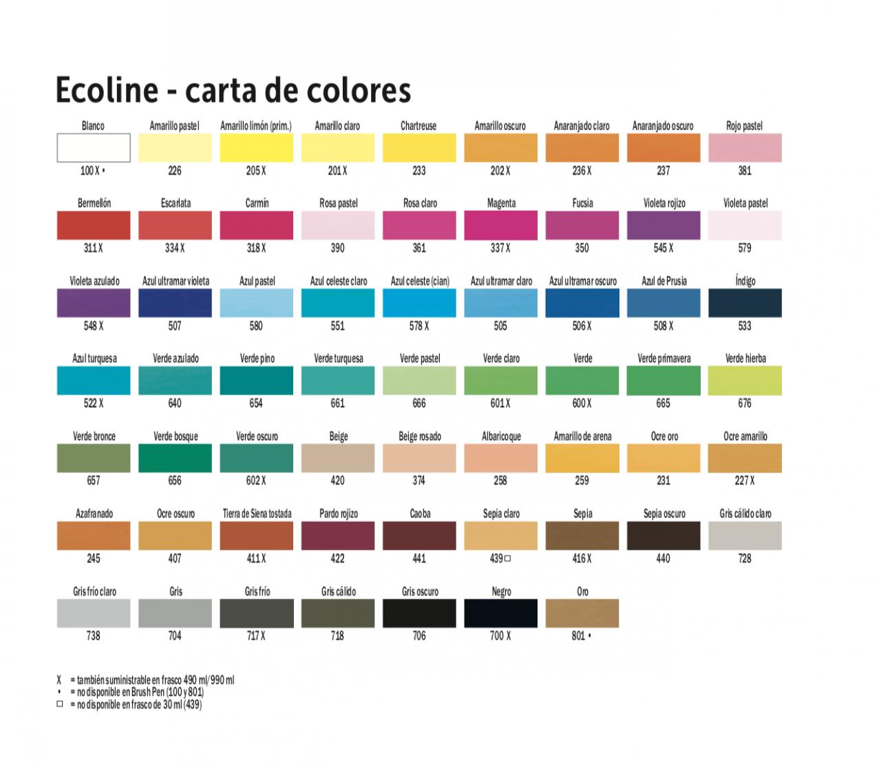 Acuarela Ecoline (Tinta)