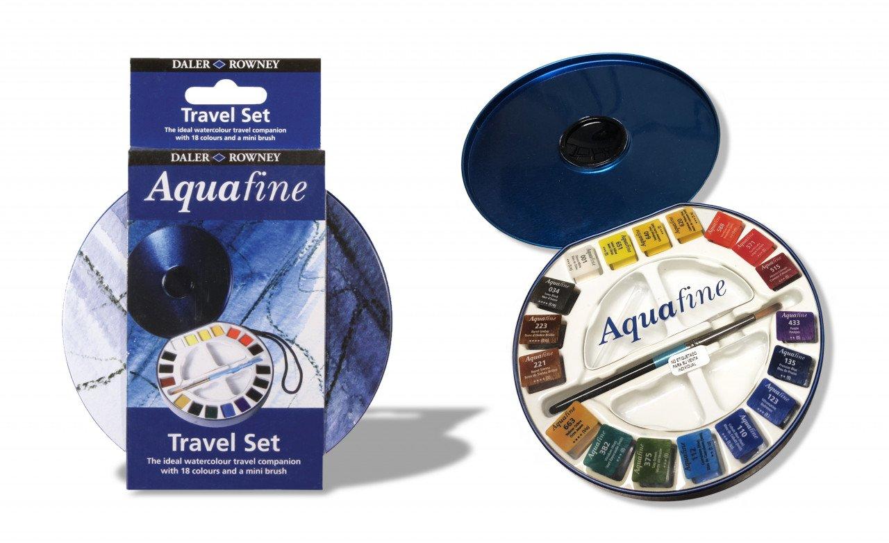 Estuche Daler Rowney de Acuarelas Aquafine Travel