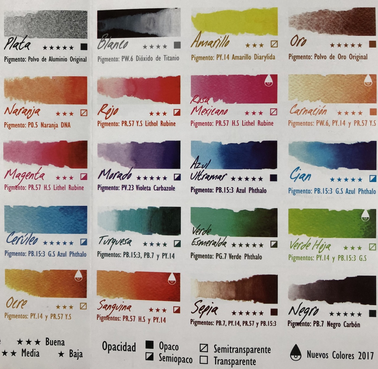 Tintas Cuiloa (20 colores)