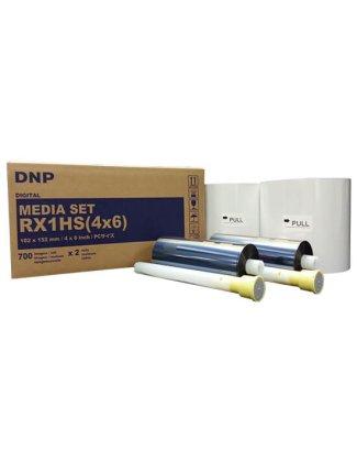 """Consumible DNP DS-RX1HS 4X6"""" (Caja con 2 bobinas para 1400 fotos)"""