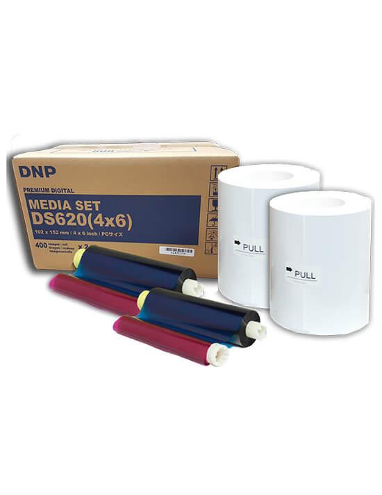 """Consumible DNP DS620A 4x6"""" (Caja con 2 bobinas para 800 fotos)"""