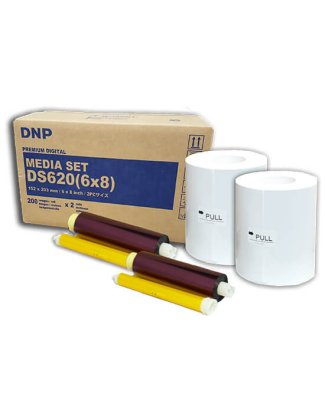 """Consumible DNP DS620A 6x8"""" (Caja con 2 bobinas para 400 fotos)"""