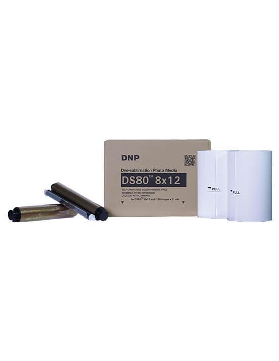 """Consumible DNP DS80 8x12"""" (Caja con 2 bobinas para 220 fotos)"""