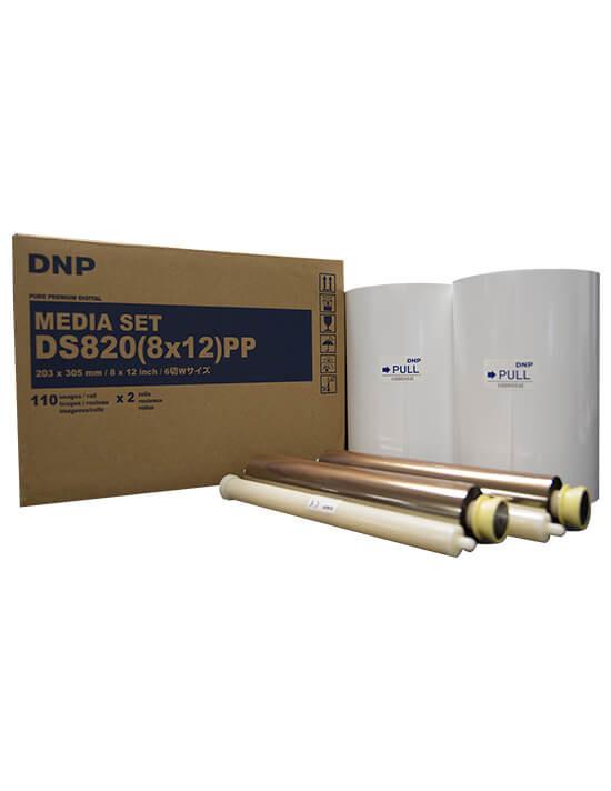 """Consumible DNP DS820A 8x12"""" (Caja con 2 bobinas para 220 fotos)"""