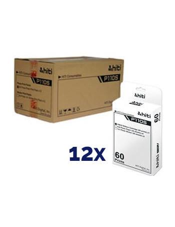 Consumible P110S-6 HiTi (Caja con 12 paquetes de 60 fotos c/u)