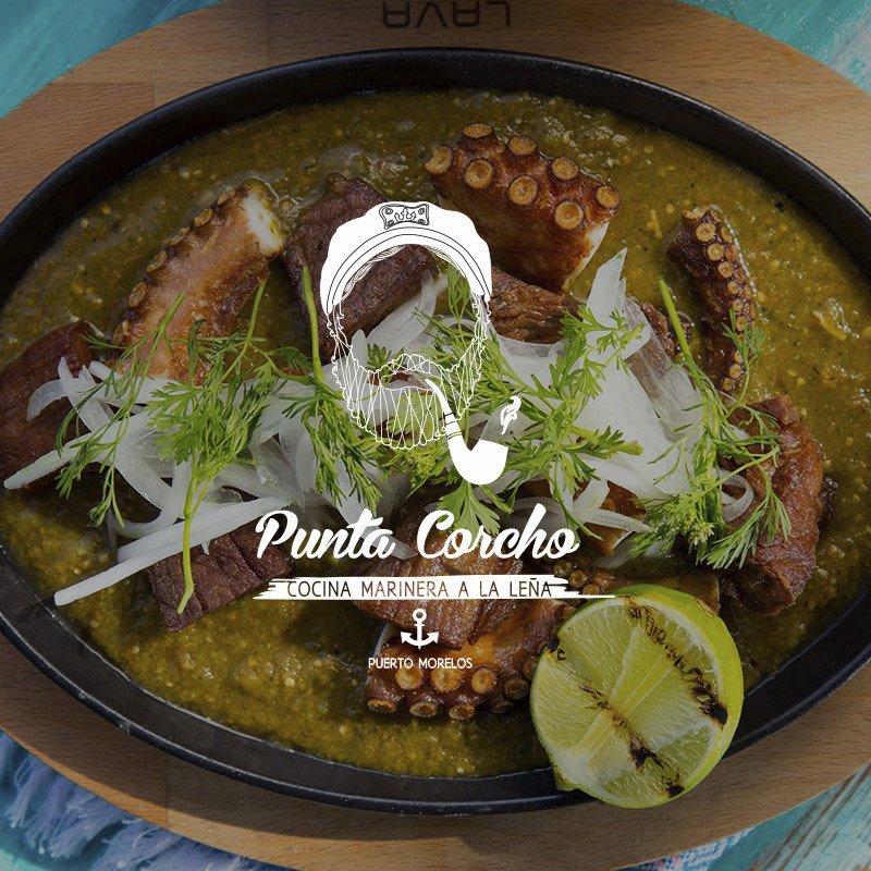 Punta Corcho, Cocina marinera a la leña, Puerto Morelos, Quintana Roo