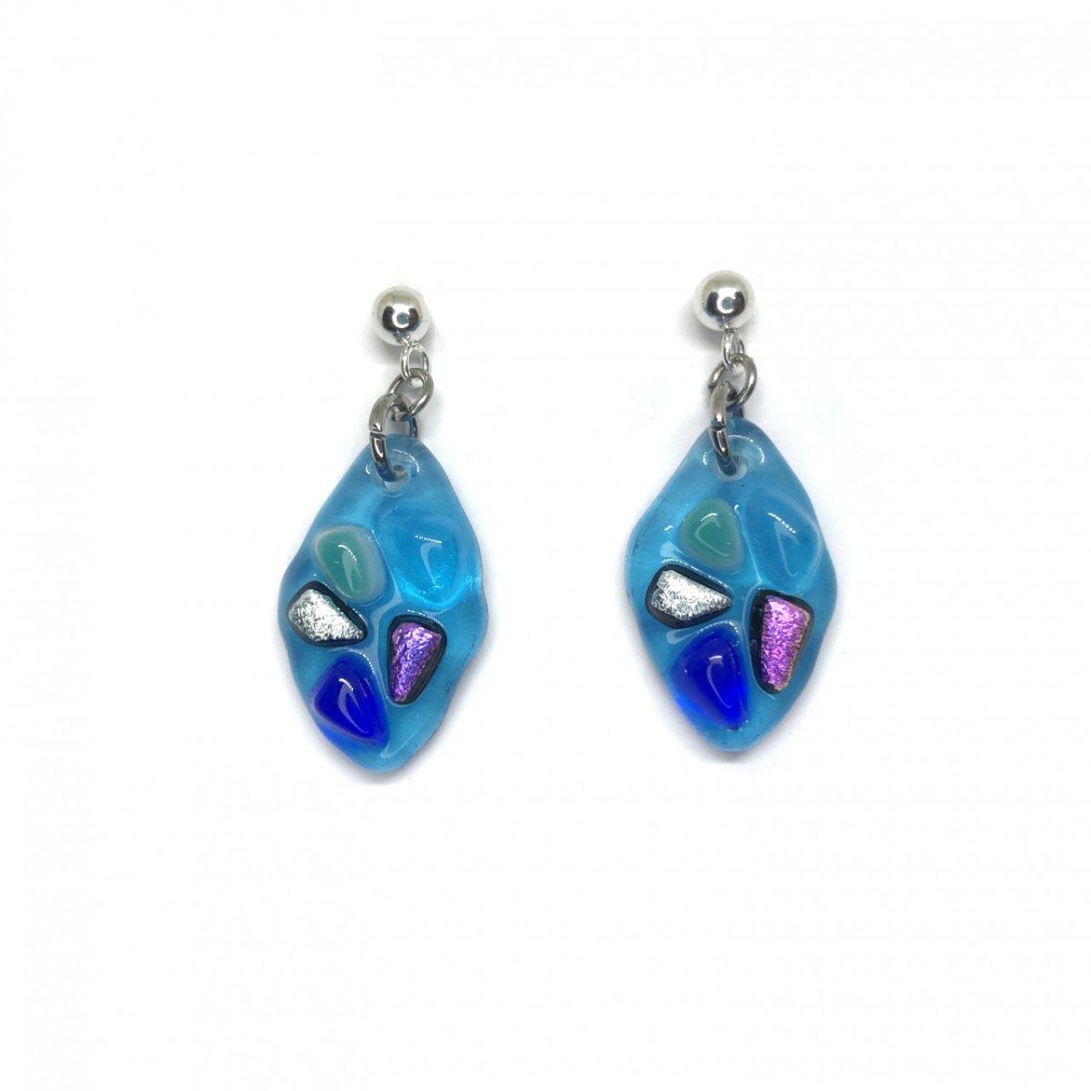 Aretes Lirio Azul