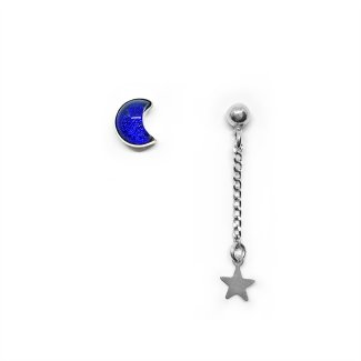 Aretes Luna y Estrella
