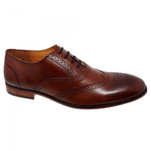 Zapato de vestir café para hombre Christian Gallery 262-M