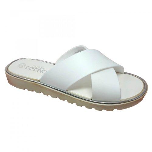 Sandalia para mujer blanca de piso Capa de Ozono 33239
