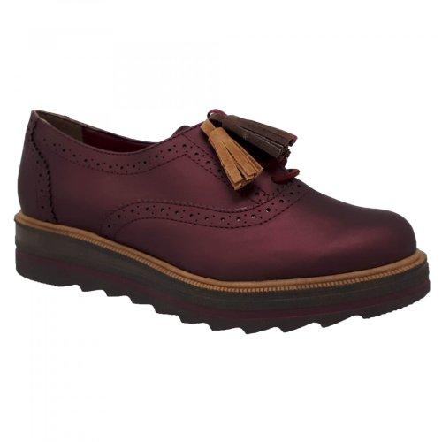 Zapato choclo vino para mujer Capa de Ozono 374512