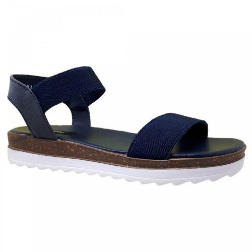 Sandalia azul marino para mujer Capa de ozono 392811