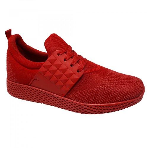 Tenis todo rojo para mujer Capa de Ozono 404701