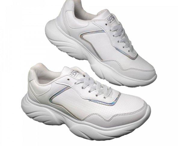 Tenis blanco chunky para mujer Capa de ozono 590201