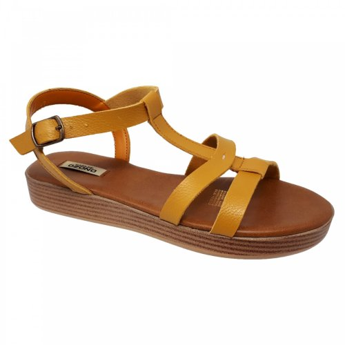 Sandalia para mujer amarilla Capa de Ozono 596501