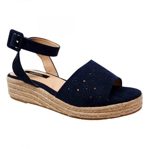 Sandalia alpargata para mujer azul con plataforma Capa de Ozono 597904