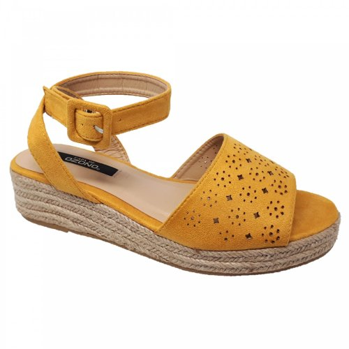 Sandalia alpargata para mujer Amarillo con plataforma Capa de Ozono 597904