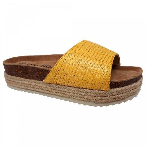 Sandalia para mujer  amarilla Capa de Ozono 597909