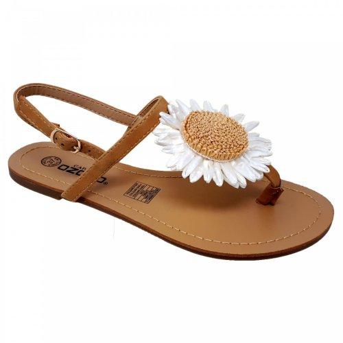 Sandalia beige para mujer Capa de Ozono 60009411