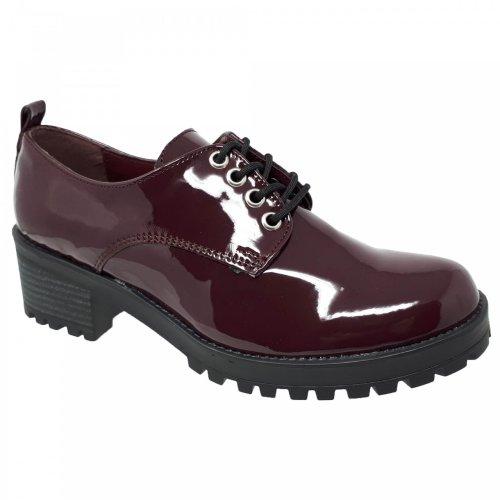 Zapato choclo vino para mujer con tacón Capa de Ozono 60016601