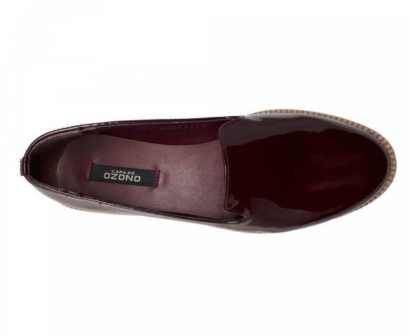 Zapato balerina vino para mujer Capa de Ozono 60025110