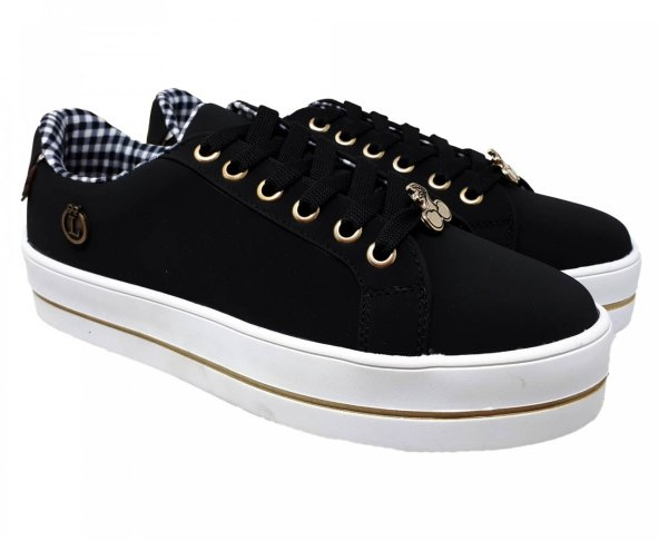 Tenis negro para mujer  Andrea Loly in The Sky