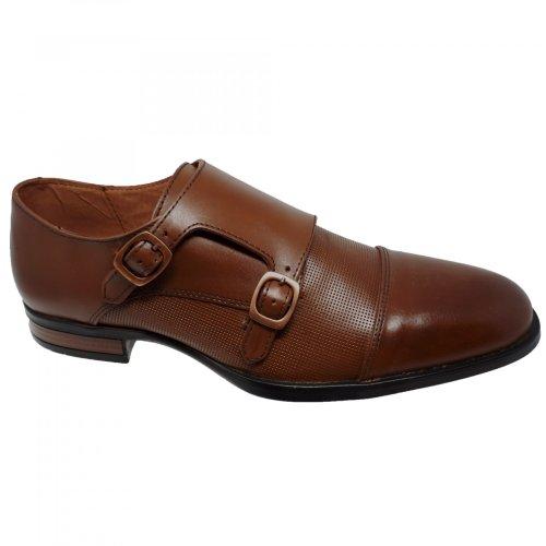 Zapato de vestir café para hombre Christian Gallery 2405-PG