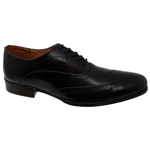 Zapato de vestir negro para hombre Christian Gallery 600-M