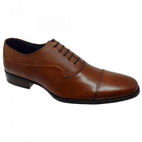 Zapato de vestir café para hombre Christian Gallery 603-D