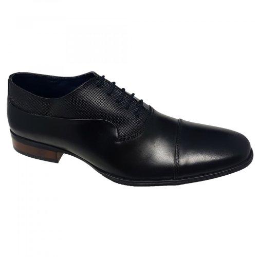 Zapato de vestir negro para hombre Christian Gallery 603-D