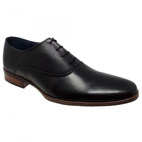 Zapato negro de vestir para hombre Christian Gallery 605