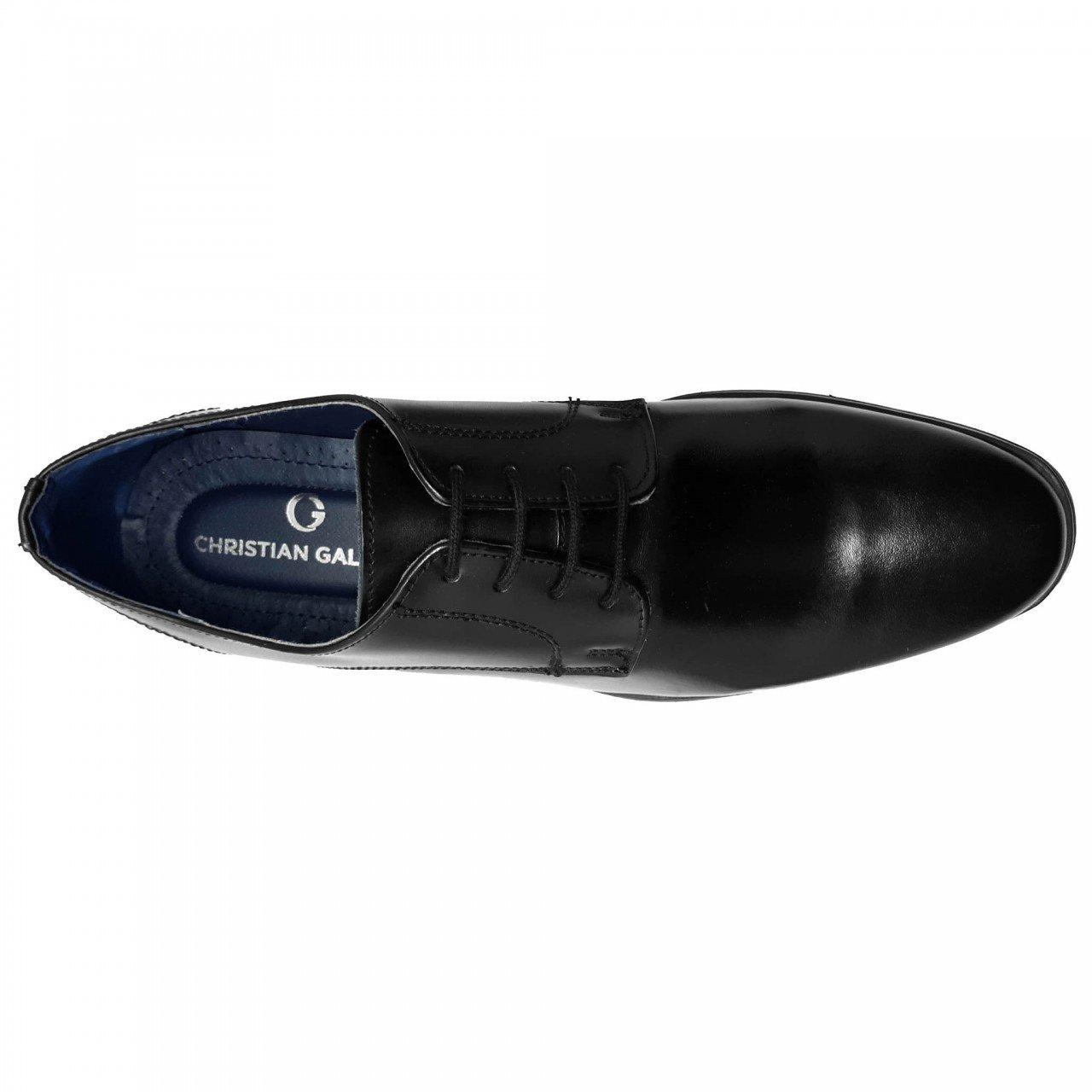 Zapato de vestir para hombre en piel negro Christian Gallery 606