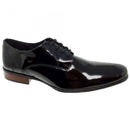 Zapato de vestir para hombre en charol negro Christian Gallery 606