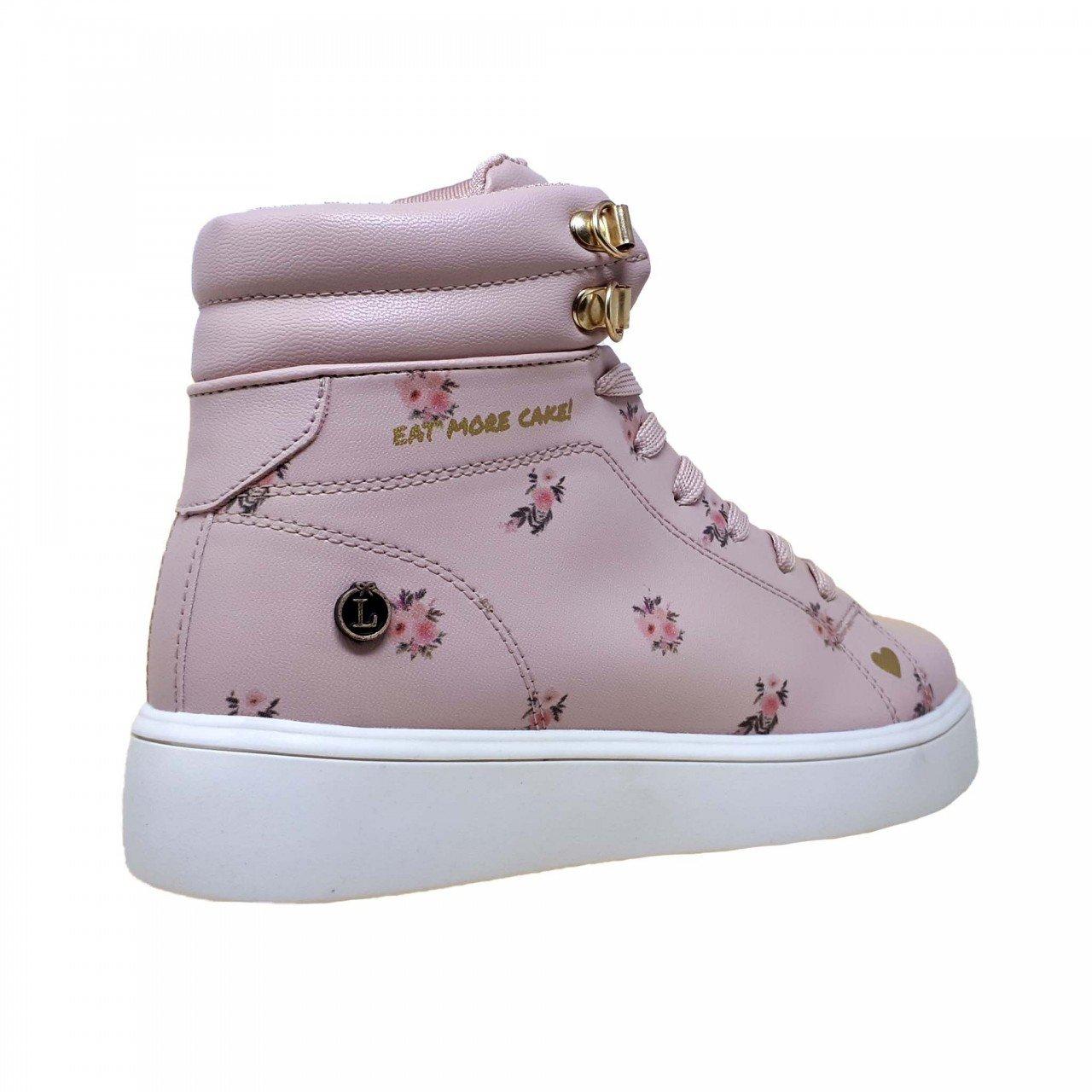 Tenis bota rosa con flores para mujer Celestine Loly in the sky