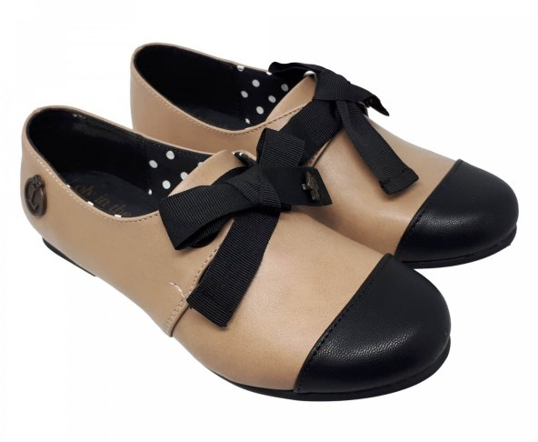 Balerina beige con negro Cherry Loly in the sky
