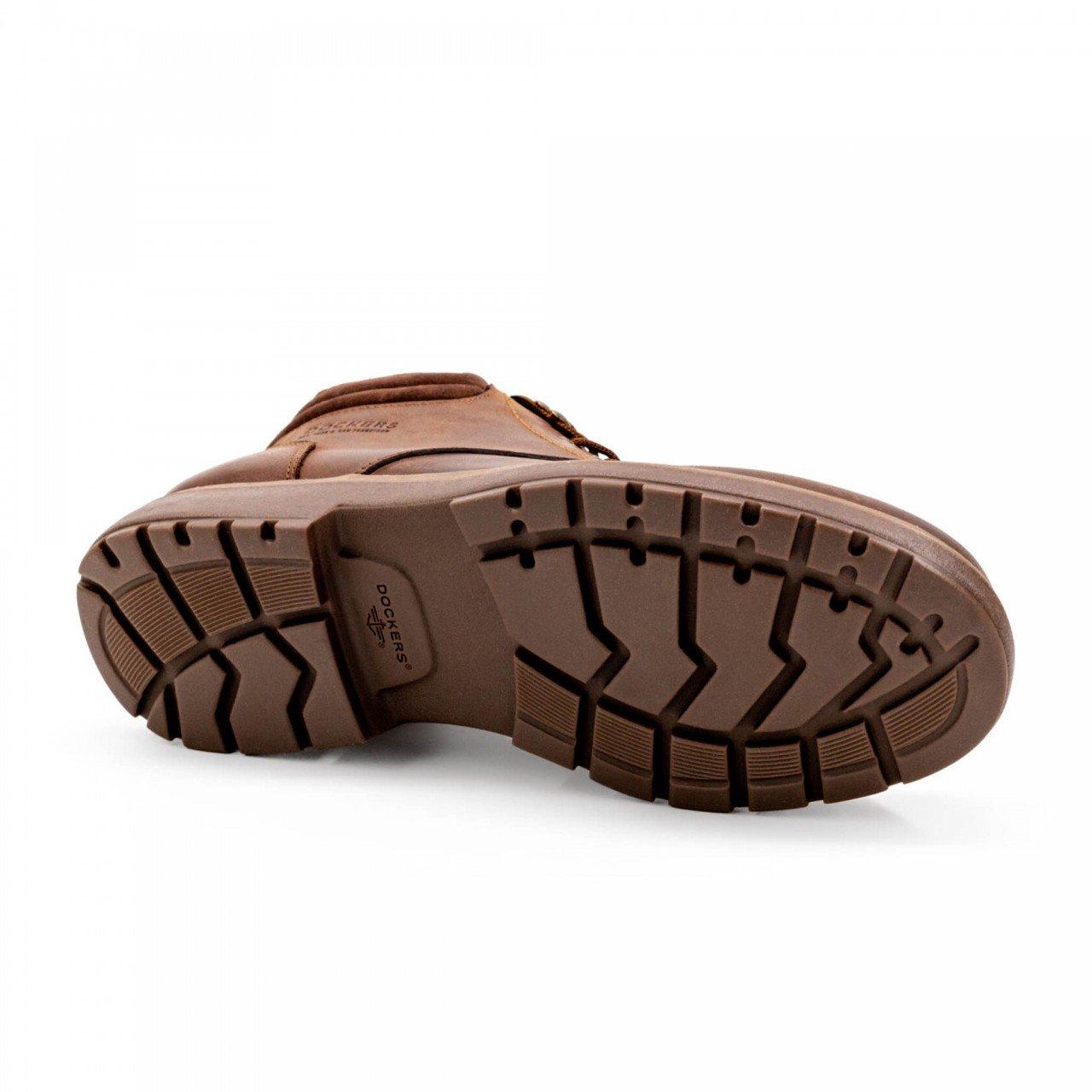 Bota café chocolate para hombre en piel Dockers 211711