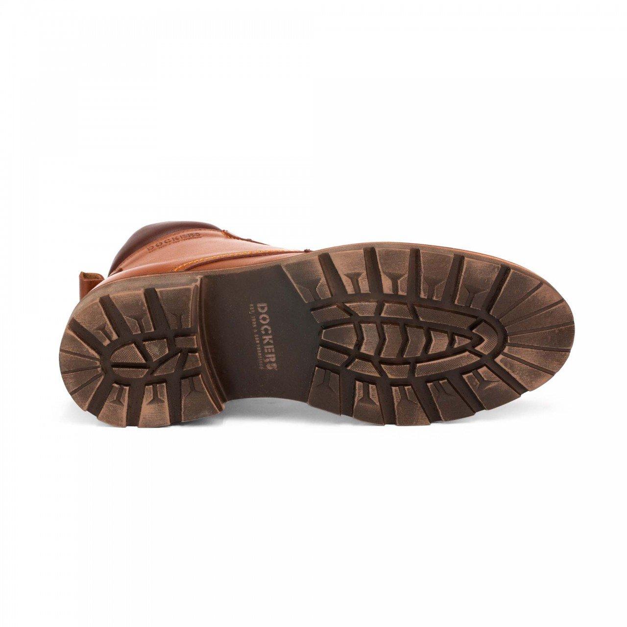 Botín marrón tan para hombre en piel Dockers 220593