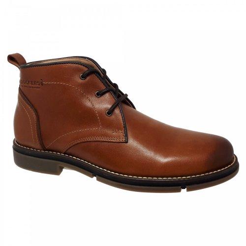 Bota café marrón para hombre en piel Dockers 220642