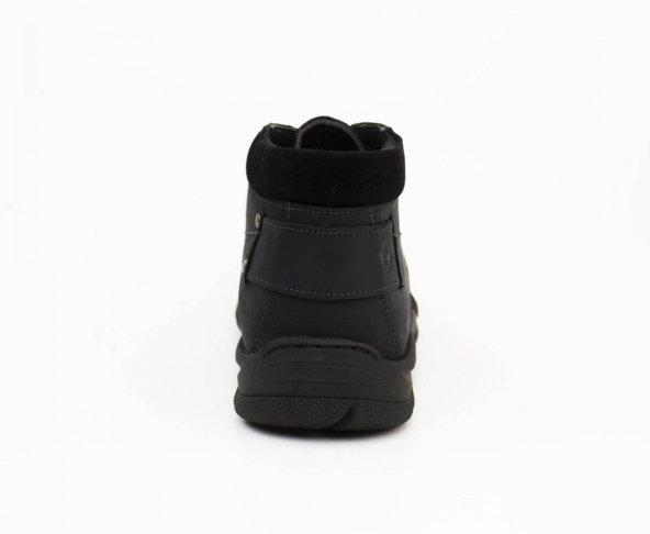 Botín negro para hombre en piel Dockers 220695