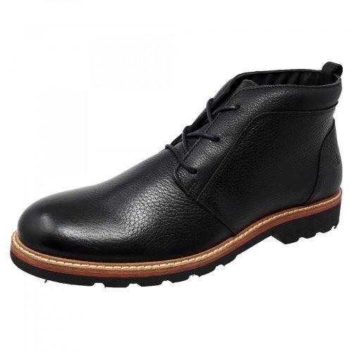 Bota negra para hombre en piel Dockers 228641