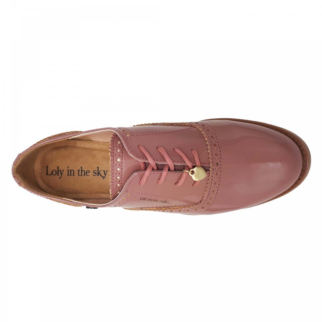 Zapato charol rosa para mujer Ebrill Loly in the sky