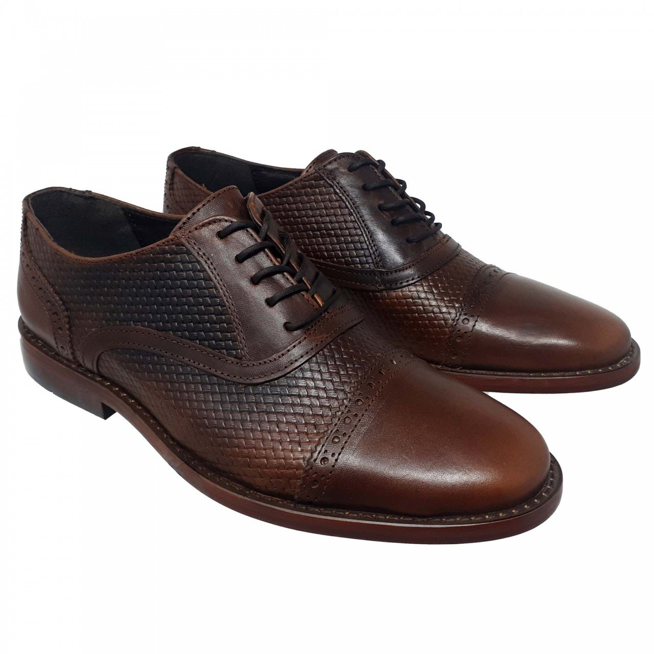 Zapato café en piel para hombre Fabián Arenas 6961