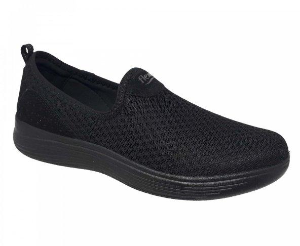 Tenis tejido negro para mujer Flexi 104901