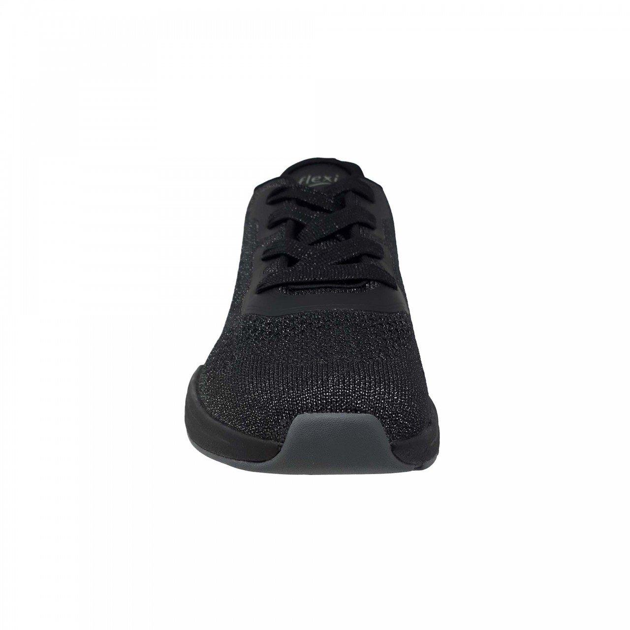 Tenis tejido negro para mujer Flexi 105103