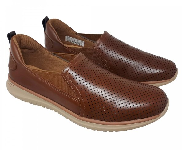 Zapato ligero café tan para mujer en piel Flexi 107601